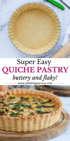 Quiche Pastry, Savory Pastry, Shortcrust Pastry, Puff Pastry Recipes, Puff Pastry Crust Recipe, Easy Quiche Crust, Quiche Crust Recipe, Quiche Recipes, Savoury Dishes