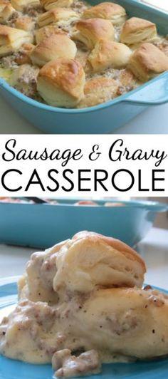 sausage and gravy casserole recipe