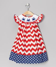 5c9037f53947 Helene s Closet Red Zigzag Crab Dress - Infant