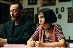 "Jean Reno as Léon & Natalie Portman as Mathilda in ""Léon / El Profesional"""