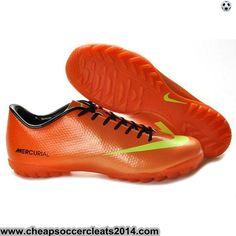 Nike Mercurial Vapor IX TF Cleats Orange Yellow Cheap Soccer Cleats