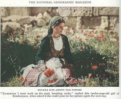 Greek Cypriot girl, National Geographic expedition to Cyprus,1928