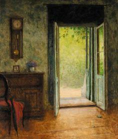 Jakub Schikaneder (Czech painter) 1855 - 1924 Interior, s.d. oil on canvas 91 x 77 cm