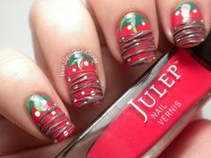 Chocolate-Drizzled-Strawberry-Nail-Design.jpg (564×423)
