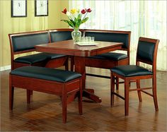 Photo of ECI Furniture Burnished Cherry Counter-Height Breakfast Nook (Dining Rooms Direct, All Dining Sets)