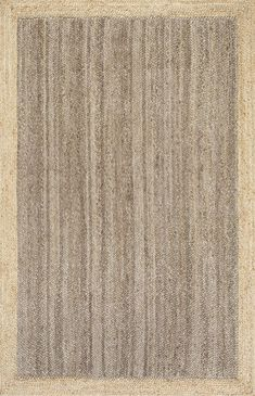 Lend a natural look and feel to any living area with this nuLOOM Eleonora Framed Solid Jute rug. Natural Fiber Rugs, Natural Rug, Maui, Braided Area Rugs, Simple Borders, Farmhouse Rugs, Farmhouse Decor, City Farmhouse, Modern Farmhouse