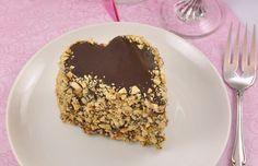Τούρτα με Ganache Nutella's, σοκολάτας γάλακτος και φουντούκια