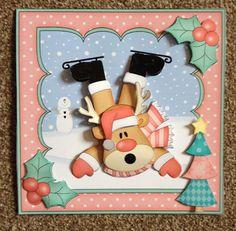 Card Gallery - 8x8 Christmas OOps Rudolph Mini Kit 3D Decoupage