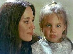 Angelina Jolie with mom Marcheline Bertrand. Angelina doesn't get the credit she deserves for her humanitarian work and her enormous financial contributions.  She has informed herself about world politics and the world's poorest children.  She has stepped in in many places without fanfare or publicity.  Brava her!
