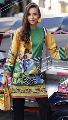 Yolo Cambric By Gul Ahmed Women Shirts Collection 2019 Stylish Dresses For Girls, Stylish Dress Designs, Stylish Dress Book, Pakistani Dress Design, Pakistani Dresses, Pakistani Suits Online, Suits Online Shopping, Indian Designer Suits, Embroidery On Clothes