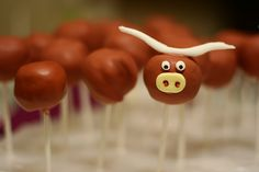 Texas longhorn cake pops! Buddy's birthday is coming up ;)
