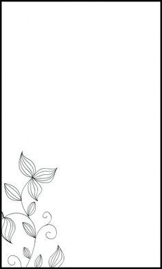 Molde para convite de casamento floral