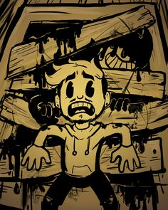 Fan art for bendy and the ink machine. I think that's Jacksepticeye, but I'm not sure