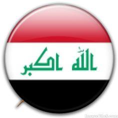 Iraq flag badge