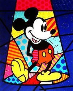 Britto Mickey Mouse (Spotlight Mickey) by Romero Britto