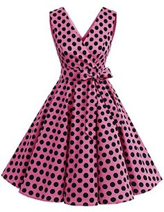The Ashley Polka Dots Dress 50s Dresses, Lovely Dresses, Cheap Dresses, Casual Dresses, Robe Swing, Swing Dress, Vintage Outfits, Vintage Dresses, Rockabilly Mode