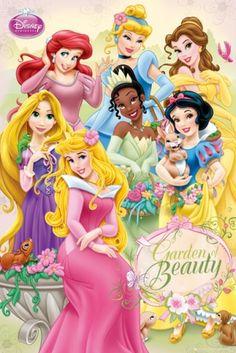 Disney Princess garden - plakat - 61x91,5 cm  Gdzie kupić? www.eplakaty.pl