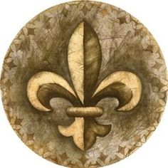 Found it at Wayfair - Fleur de Lis Coaster Cool Coasters, Marble Coasters, Drink Coasters, Cork, Sandstone Coasters, Concrete Projects, Concrete Crafts, Crushed Glass, Boy Scouting