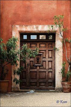 Welcoming entry, beautiful door, Luberon, France