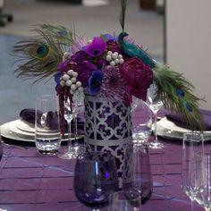 Moroccan style vase, whimsical arrangement