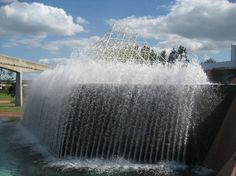 Epcot - Reverse Waterfall at the Imaginations Pavilion
