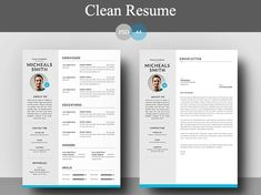 Free Elegant Resume And Cover Letter Template  Free Resume