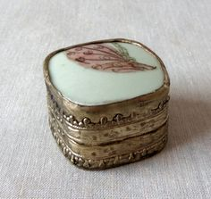 Vintage China Shard Trinket Box by BeeHavenHome on Etsy, $28.00