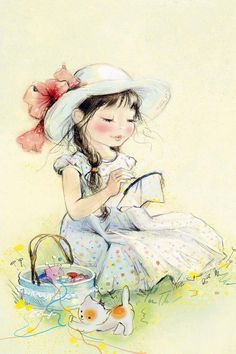 Mignonnes illustrations serie L (K.B) Katerina Babok Art And Illustration, Illustration Mignonne, Images Vintage, Vintage Art, Art Mignon, Sewing Art, Children Images, Vintage Children, Cute Drawings