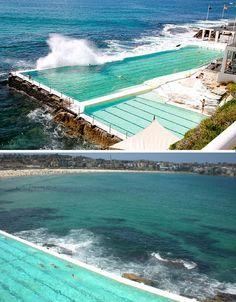 Saltwater pool at Bondi Icebergs, Sydney, Australia. Miss this place beyond belief!