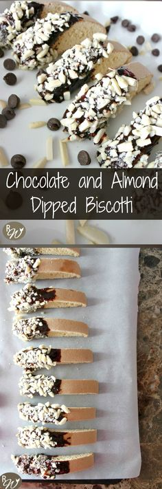 ... Chocolate and Almond-Dipped Biscotti Cookies | therusticwillow.com