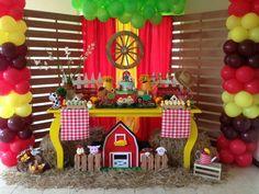 Woody Birthday, 2nd Birthday Party Themes, Farm Animal Birthday, Cowboy Birthday, Kids Party Themes, Farm Birthday, Birthday Party Decorations, Farm Themed Party, Barnyard Party
