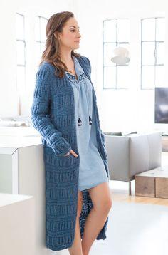 Lana Grossa MANTEL IM QUERRIPPEN-PATENTMUSTER Yak Merino - FILATI Handstrick No. 66 (Home) - Modell 60 | FILATI.cc WebShop