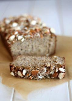 Almond Banana Bread from Bakerita.com | A delicious recipe that's gluten-free, refined sugar free, and paleo.