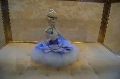 Antique German Powder Puff Doll w/ Swansdown big Puff hand painted doll | eBay