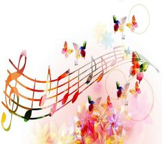 Music Notes With Butterflies Ultra Hd Wallpaper
