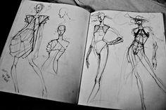 Fashion Sketchbook - fashion design sketches; fashion drawings; fashion designer's portfolio // Peter Do