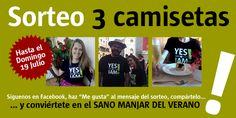 Sorteamos 3 camisetas Sano Manjar hasta el 19 de julio de 2015, síguenos en Facebook!