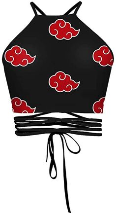 JooMeryer Women's 3D Print Anime Floral Backless Halter Crop Top Vest Shirt, Anime Red Cloud at Amazon Women's Clothing store Anime Inspired Outfits, Teen Fashion Outfits, Edgy Outfits, Mode Outfits, Cute Casual Outfits, Cosplay Outfits, Anime Outfits, Naruto Clothing, Anime Dress
