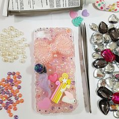 IPhone7 cell phone case.   Made of handmade pastel parts in a transparent hard case.  Big ribbons, ponies, cute rabbits, hippocampus, pearls and glass   beads are all made with unique motifs.  Only one of cases is manufactured and sold.  Use this product to gain notice of everyone.  One product is only one product that wont be rebuilt if one is sold.  Shipping is free for all countries.  I definitely recommend you to use this case as a perfect gift for your families, lovers, friends and of…