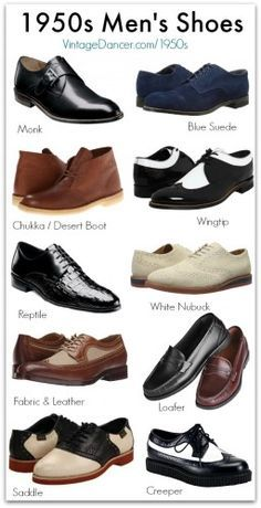 New 1950s Style Men's Shoes. Shop at VintageDancer.com/1950s