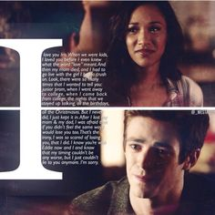 Ok well you're with her now, well you were, rn you're kind of stuck in the speed force while she's depressed, but that's ok. Barry Iris, The Cw Tv Shows, Flash Tv Series, Birdflash, Dinah Laurel Lance, Speed Force, Snowbarry, Iris West, Mom Died