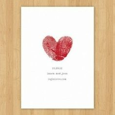 Fingerprint Letterpress Save the Date Wedding Wishes, Wedding Cards, Our Wedding, Dream Wedding, Rustic Wedding, Wedding Gifts, Safe The Date Karten, Wedding Stationary, Wedding Invitations