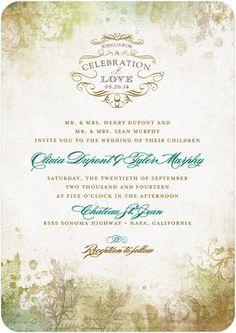 Fall Wedding Invitations - Brown - Romantic Regency