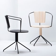 chair /// Uncino carved wood chairs by Ronan and Erwan Bouroullec for Mattiazzi Milan 2014