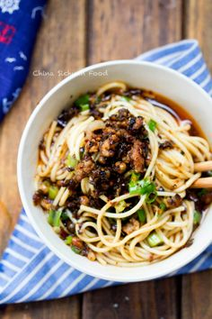 Sichuan Dan Dan Noodles by ChinaSichuanFood