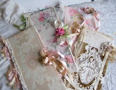 pretty journals w/ vintage wallpaper scraps