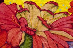 Detail of Zinnia by Velda Newman