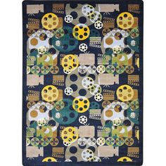 The Conestoga Trading Co. Navy Area Rug Rug Size: