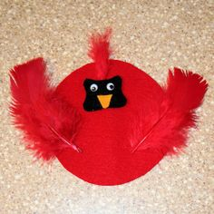 preschool winter crafts | Cardinal craft. Use for wv day | Preschool Winter Crafts