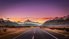 The road to a mystical sunset at Mount Cook by Nicolas Jægergaard Nielsen on 500px